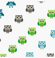 owl logo silhouette vector image vector image
