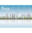 Paris skyline with grey landmarks