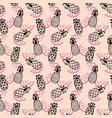 pineapples seamless pattern on coral vector image vector image