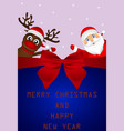 postcard invitation for christmas and new year vector image vector image