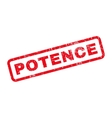 Potence Rubber Stamp vector image vector image