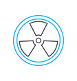 radioactive analysis thin line stroke icon vector image