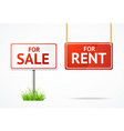 realistic 3d detailed sale and rent signs set vector image