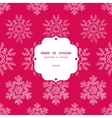 Red Lace Christmas Snowflakes Geometric Textile vector image vector image