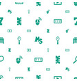 reflection icons pattern seamless white background vector image vector image