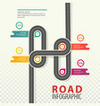 road or highway car path top view infographic vector image vector image