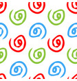 seamless pattern with spiral hand drawn vector image vector image