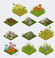 Set of Isometric landscape Tiles vector image vector image