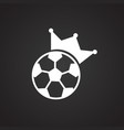 soccer king on black background vector image