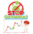 stop spreading coronavirus with second wave vector image vector image