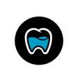 tooth logo design dental icon vector image