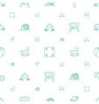 toy icons pattern seamless white background vector image vector image