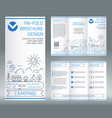 tri-fold brochure template on topic of vector image