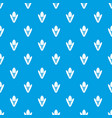tulip pattern seamless blue vector image vector image