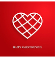 Valentines day card with cut heart vector image vector image