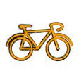 vintage bike symbol vector image vector image