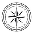 vintage compass navigation dial on white vector image