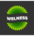 Wellness - logo template vector image