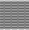 White black wave abstract line optical background vector image