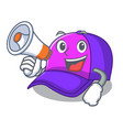 with megaphone cap shape in the a cartoon vector image vector image
