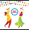 happy navrati festival celebration greeting design vector image