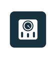 fitness scales icon Rounded squares button vector image