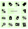 14 discount icons vector image vector image