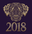 2018 new year of chinese horoscope greeting card vector image