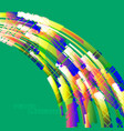 abstract green colors curved scene vector image vector image