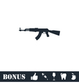Assault rifle icon flat vector image vector image