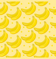 banana seamless pattern endless background vector image