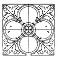 bas-relief square panel is a 12th century design vector image vector image