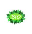 bio green logo vector image vector image