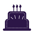 birthday cake sticker tag vector image