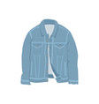 blue denim jacket fashion style item vector image vector image