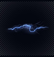 blue lightning on black background vector image vector image