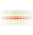 brain spectrum halftone pattern vector image