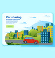 bright car share ride banner template vector image vector image
