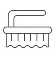 brush thin line icon clean and wash scrub brush vector image