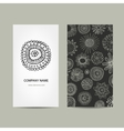 Business card design Ornate background vector image vector image