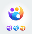 Business cooperation unity friends icon simple