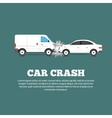 Car Crash Poster vector image