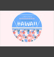 colored related to hawaii vector image