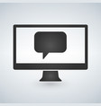 computer communication message icon vector image