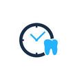 dental time logo icon design vector image