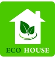 eco house icon vector image vector image