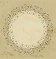 elegant hand drawn retro floral frame vector image vector image