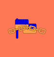 flat icon on background ukrainian flag vector image vector image