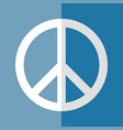 flat logo peace day white on blue vector image vector image