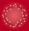 garland frame with glowing lamps decorative vector image vector image
